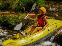 Piccola in canoa