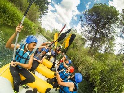 Descenso de rafting en las Hoces del río Cabriel