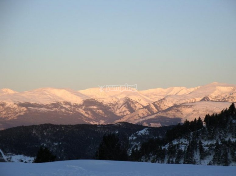 滑雪的完美日子