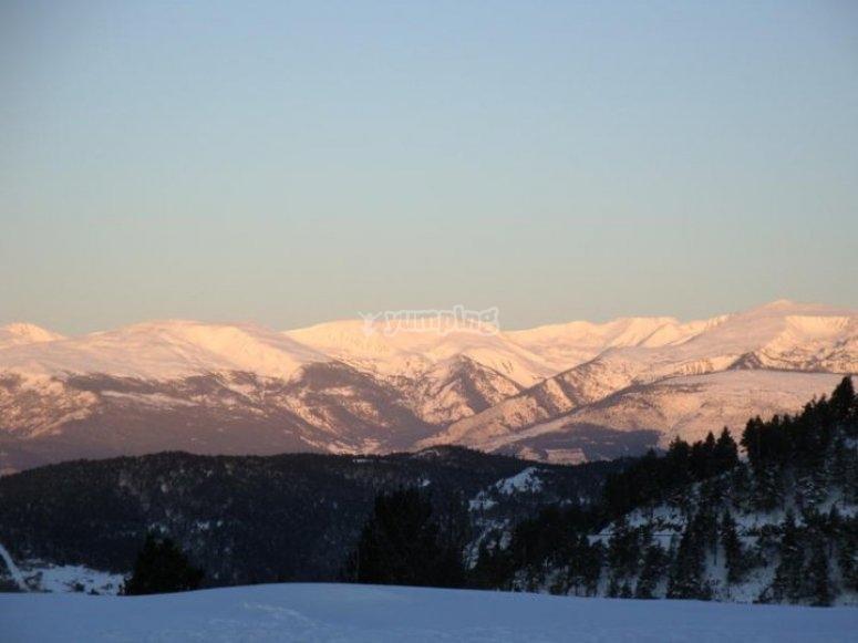 Sesión de esquí