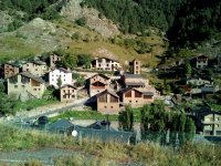 Landscape of a village of the Pyrenees