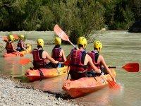Iniciando una ruta en canoa