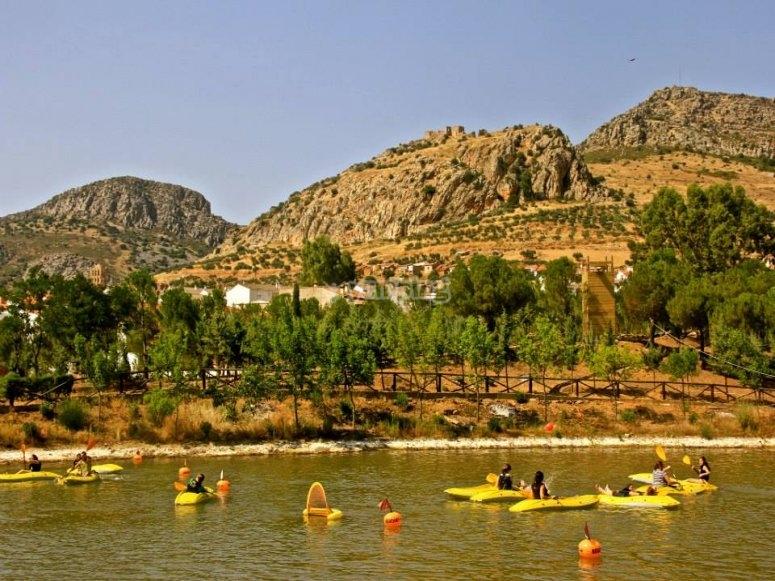 Kayaking in the reservoir