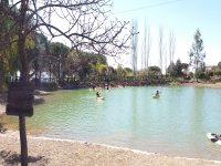 Kayak en la laguna