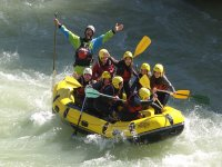 Sobre la balsa del rafting