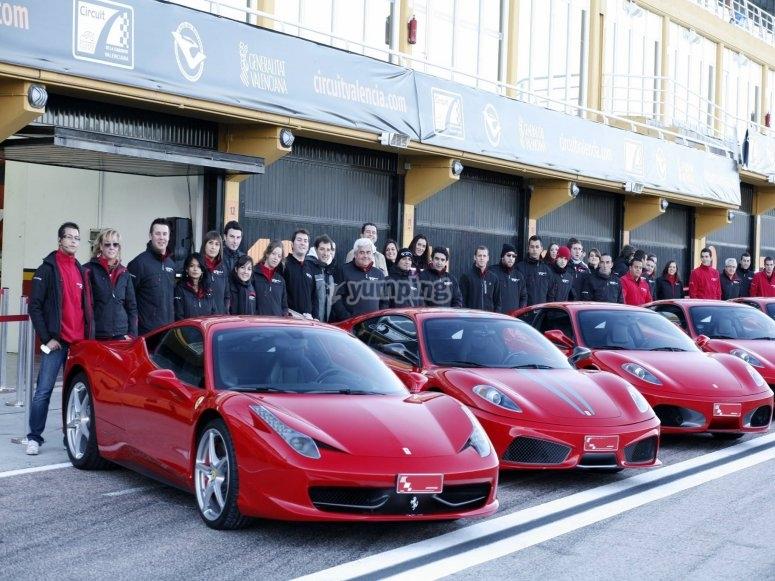 Junto a la flota de Ferraris