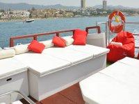 Una embarcación lujosa