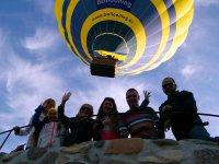 departure in balloon