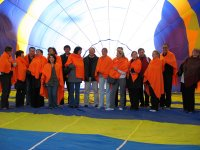 Group inside of the balloon