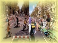 Double circuit of bicycles