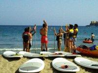 - 对桨板冲浪桨冲浪