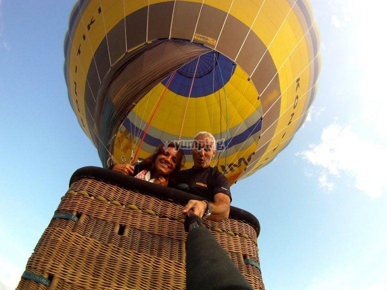 Vuelo en globo en pareja