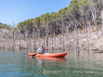Ruta en kayak exprés, embalse de Nerva, 2 horas