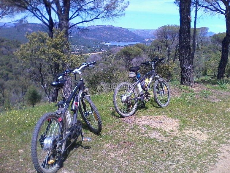 Bicicletas eléctricas en pantano