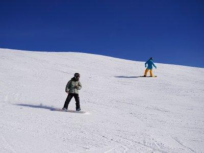 在内华达山脉的滑雪课1小时