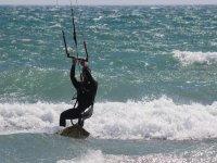 kitesurf en el mar