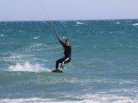 deslizandose en kite
