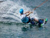 Sesión de wakeboard
