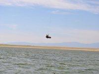 Kitesurf en pantano