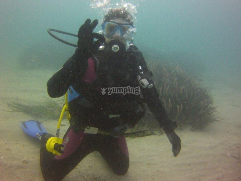 在塔巴卡岛潜水