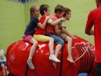 children in mechanical bull