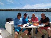 Con los amigos en el barco