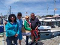 En el puerto antes de embarcar