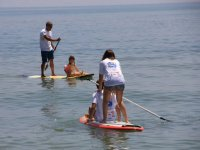 Rowing in sup with the kids