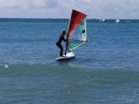 Carrying the windsurf board