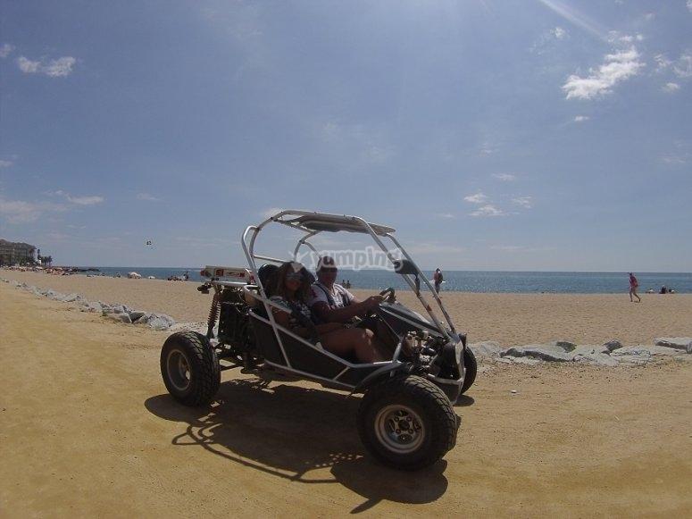 Buggy junto a la playa