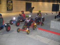 Driving on the street pedal vehicles