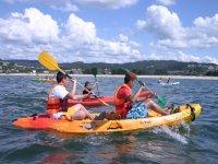 On the kayaks