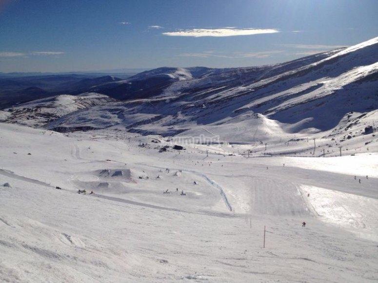 Skier day