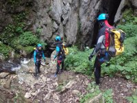 Water canyoning in Basque Country
