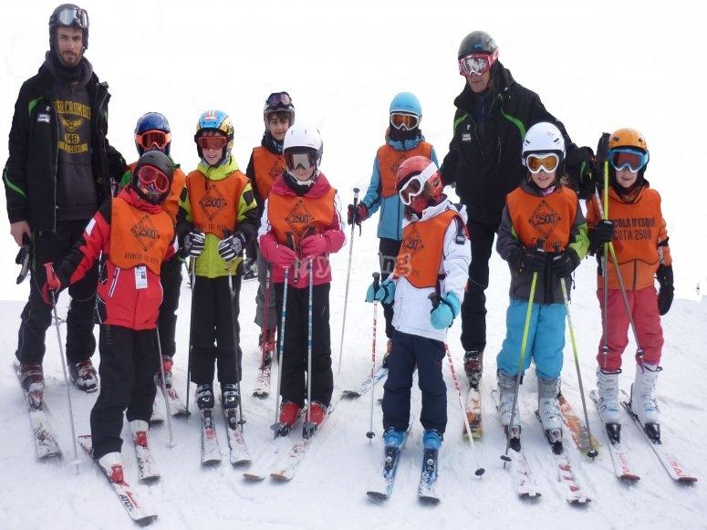 Grupo completo de esquí