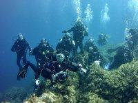 Grupo de submarinismo en Menorca