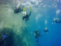 Inmersion de buceo en Baleares