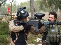 Paintball match for businesses