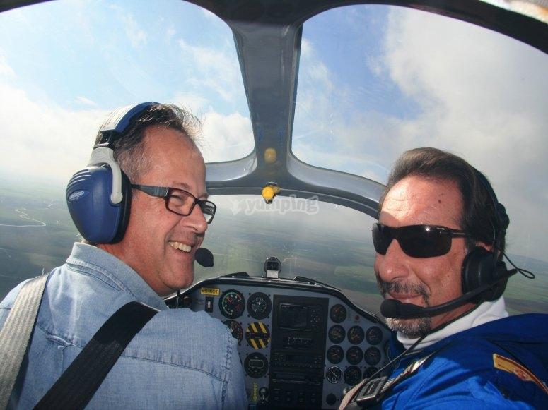 Volando en avioneta