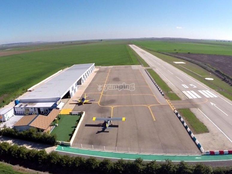 Nuestro aerodromo en Sevilla