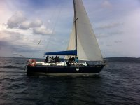 Navengando en el barco