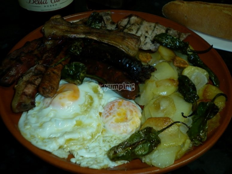 Typical dish of Alpujarria