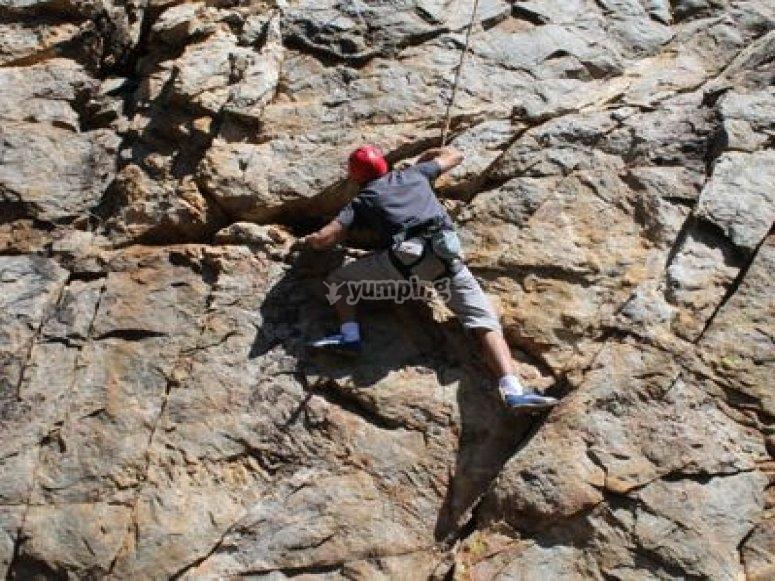 Climbing in Sierra de Aracena