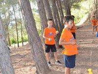 Con el diabolo en el campamento de Castellon
