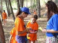 Juego de pistas en el campamento de Castellon