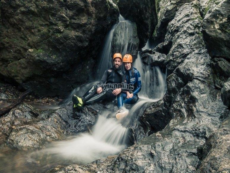 在阿拉塞纳山脉的峡谷