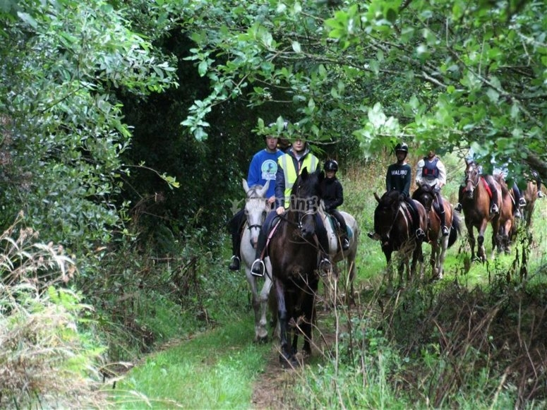 On horseback in the surroundings of Ortigueira