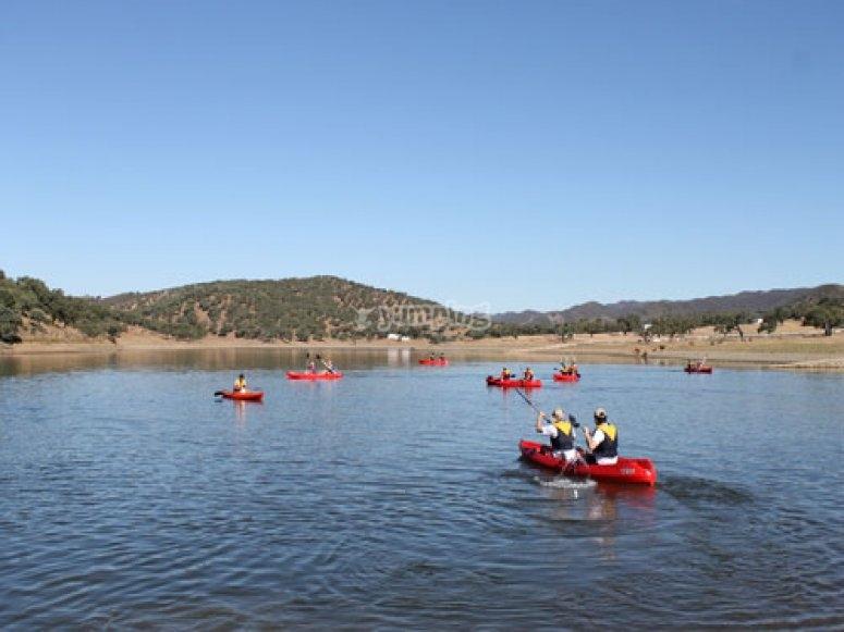 Kayaks dobles autovaciables