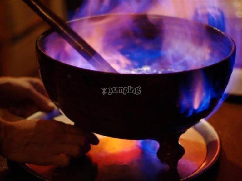 La tradicional queimada