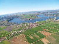 来自动力伞的比利亚法菲拉的泻湖